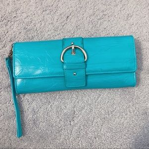 VINTAGE Turquoise Genuine Leather Wallet